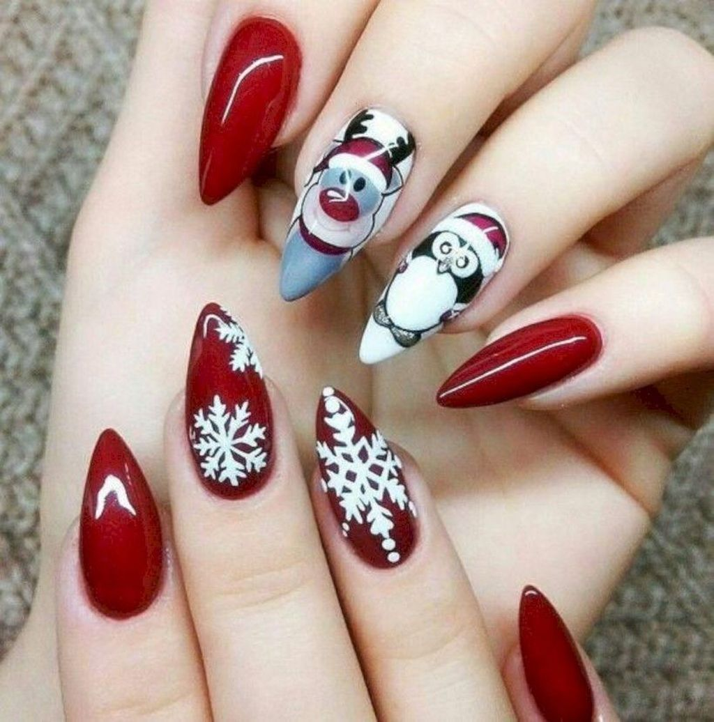 Awesome 48 Creative Winter Nail Design Ideas This Season More At Https Www Tilependant Com New Years Nail Designs Christmas Nails Christmas Nail Art Designs