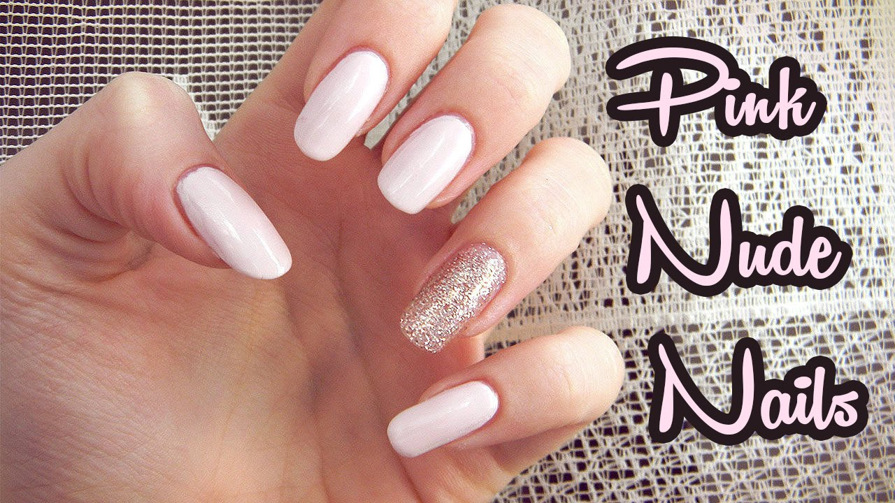 Tutorial Ruzove Trblietave Nechty Pink Nude Glitter Nails Youtube