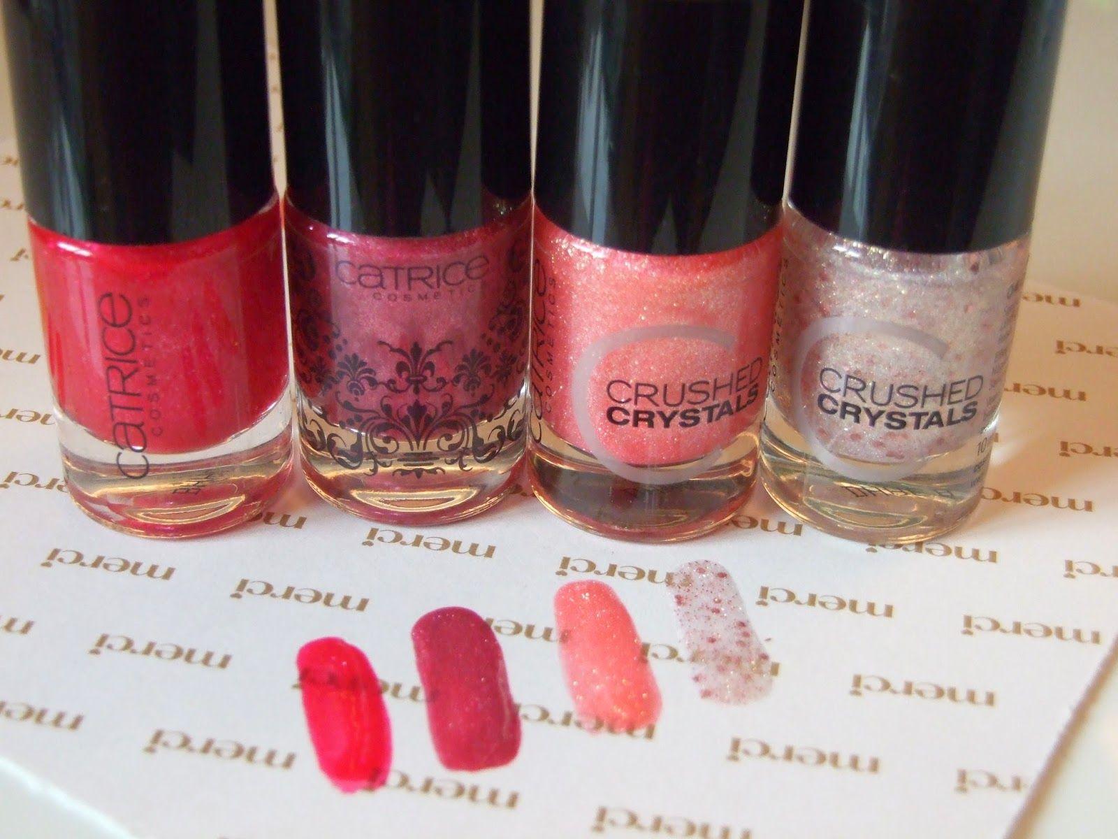 Pinky Glitter And Liquid Sand Nailpolishes Ruzove Laky Na Nechty S Glitrom A Pieskove Laky Catrice Nails Bottle Nails Wine
