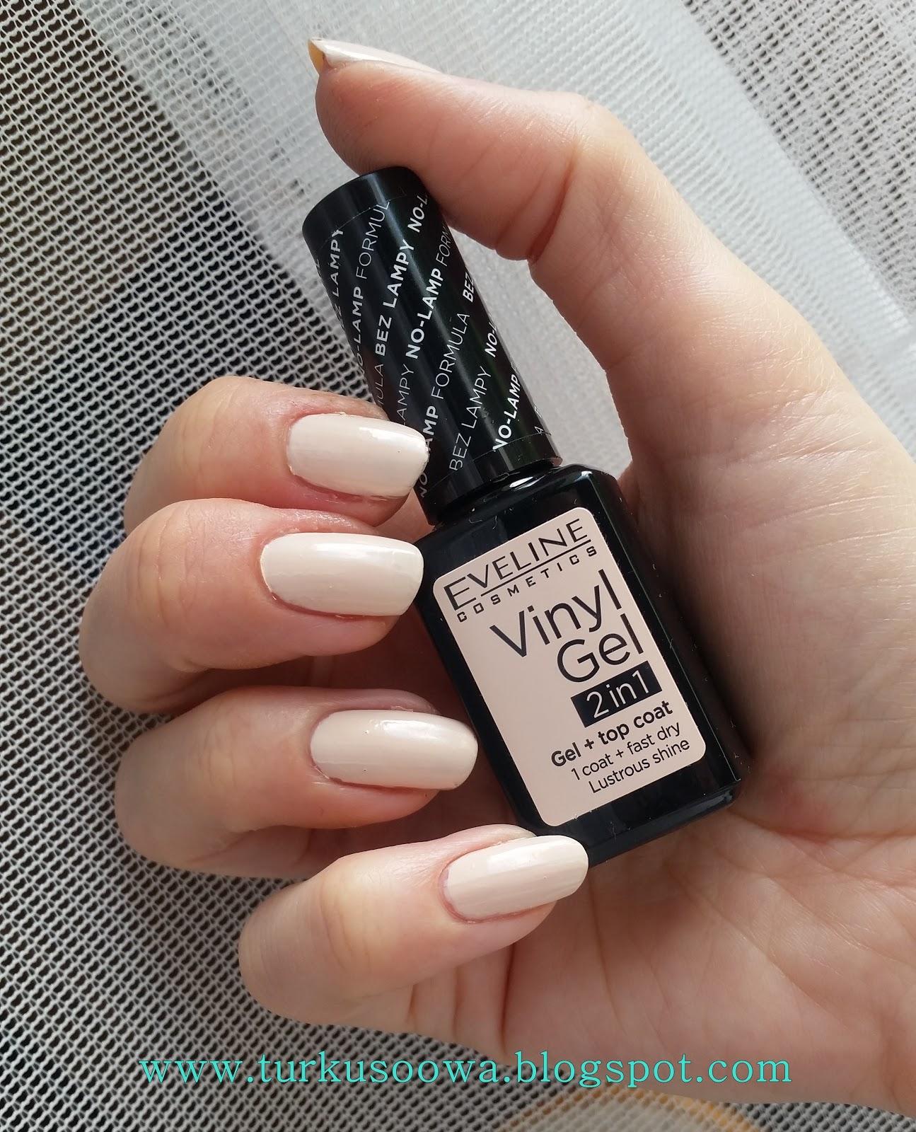 Turkusoowa Beauty Blog Eveline Vinyl Gel Nowe Lakiery Do Paznokci