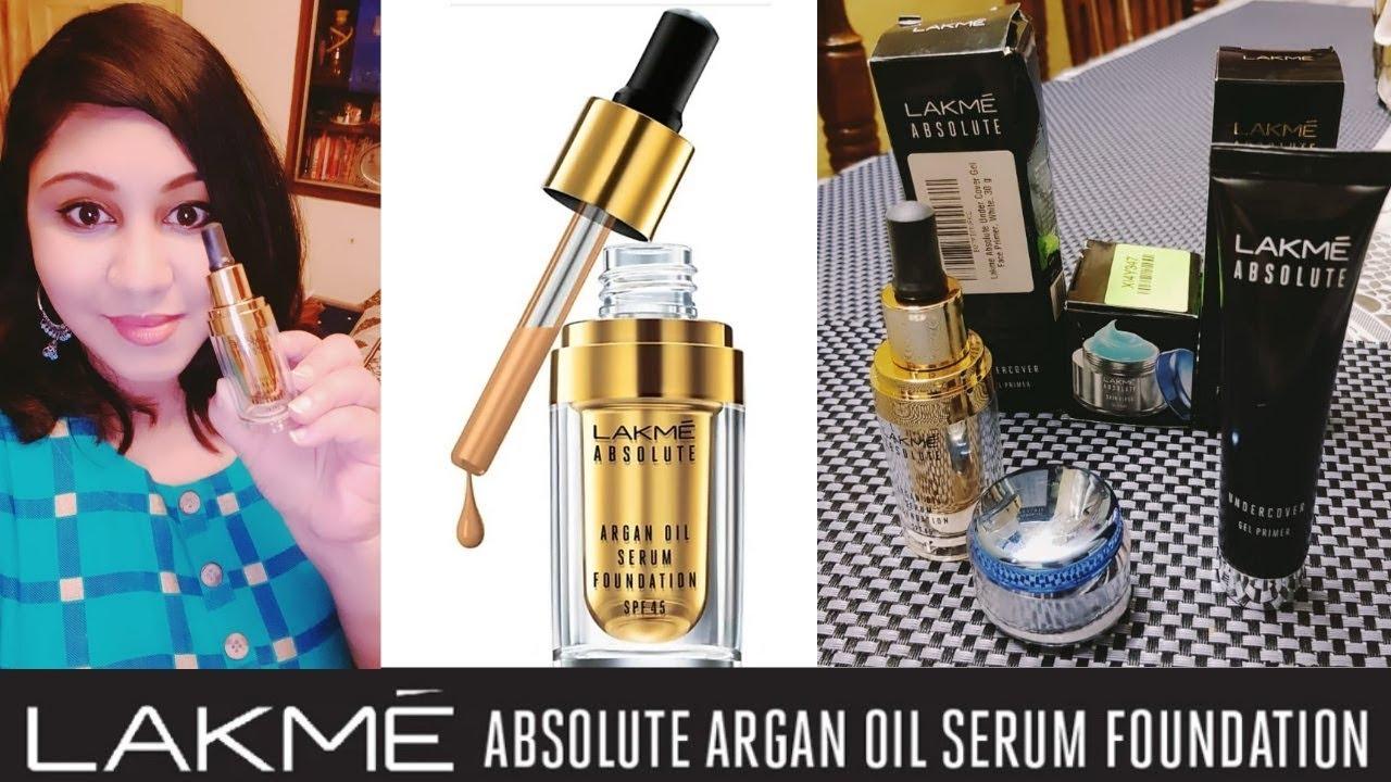 Haul Lakme Serum Foundation Girlboss Skincare Lakmeabsolute Argan Oil Serum Foundation Review Youtube