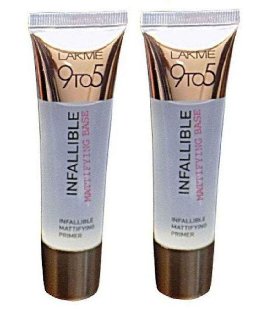 Lakme 9 To 5 Infallible Mattifying Base Face Primer Gel 70 Ml Pack Of 2 Buy Lakme 9 To 5 Infallible Mattifying Base Face Primer Gel 70 Ml Pack Of 2 At Best Prices In India Snapdeal