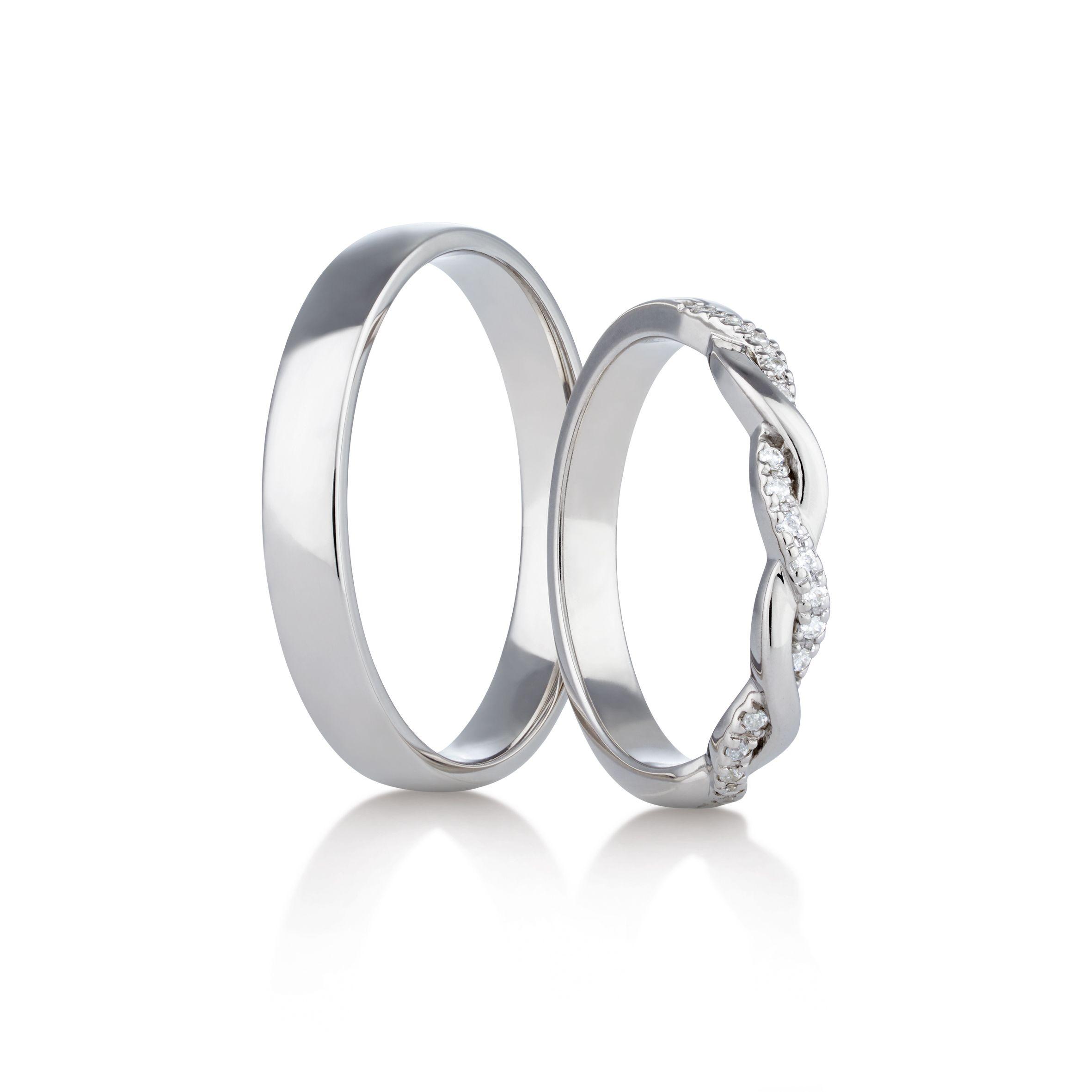 Snubni Prsteny Model C 293 04 Bile Palladium Prsteny Panske Prsteny Zasnubni Prstynek