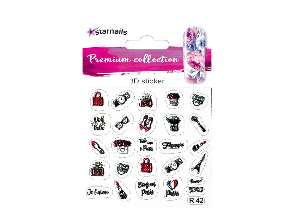 Nalepky Na Nehty 3d Starnails Premium R42