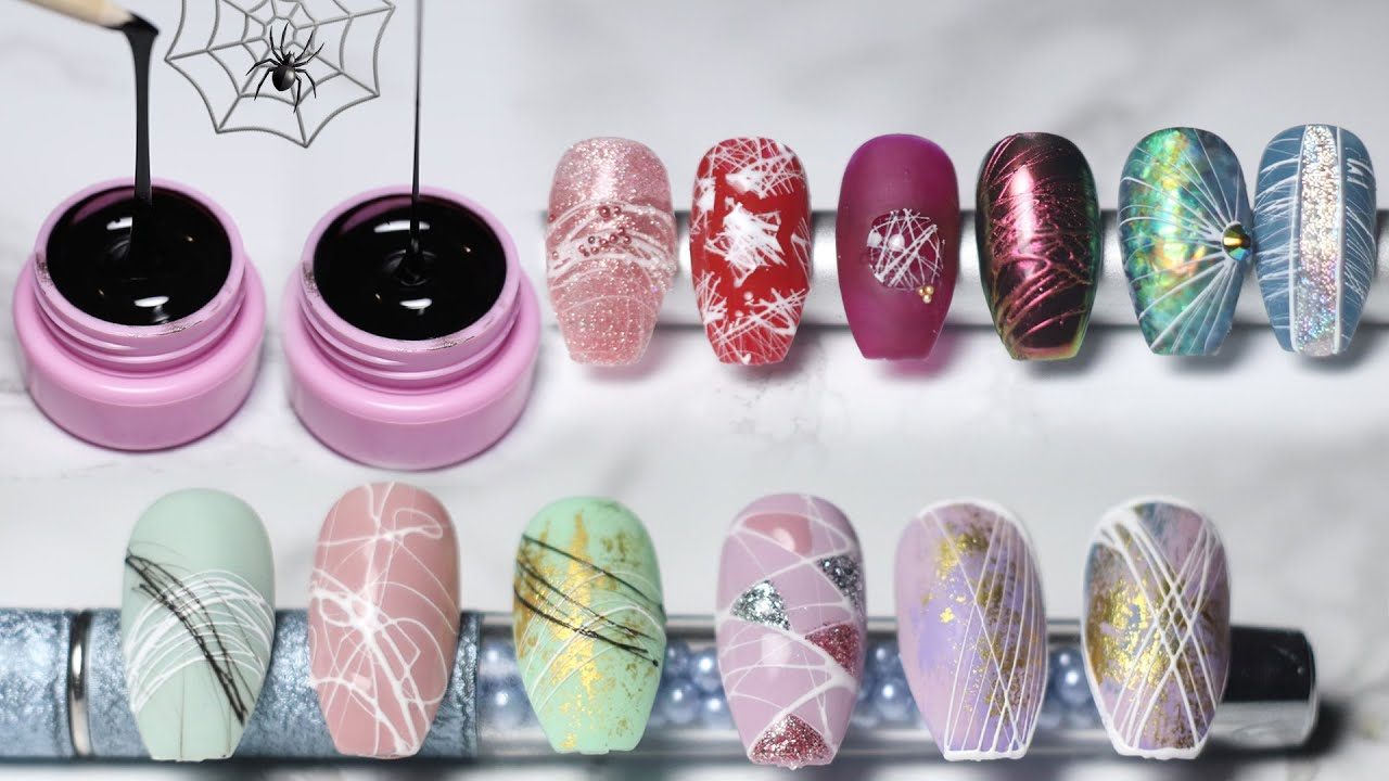 Spider Gel Nail Art Ideas Youtube