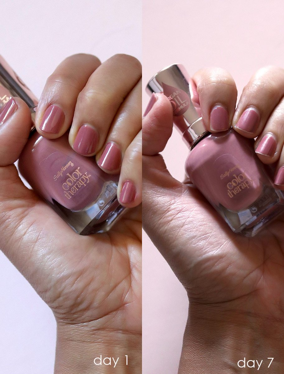 Uzivatel Makeupandbeautyblog Na Twitteru I Recently Found Some Gems Over At Sally Hansen Their Color Therapy Line Is So Good Long Lasting And Super Affordable Too Https T Co Uscinnzcpg Https T Co U5olx9gryl
