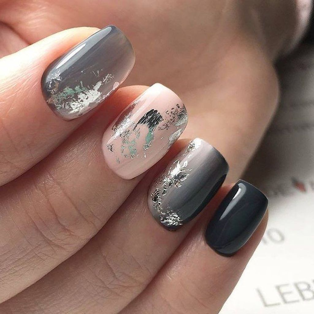 42 Outstanding Fall Nails Designs Ideas That Make You Want To Copy Pink Grey Nails Fashion Nails Pink Nails