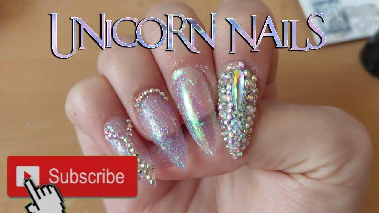 Jednoduchy Navod Na Unicorn Nehty Zarive A Plne Kaminku Youtube