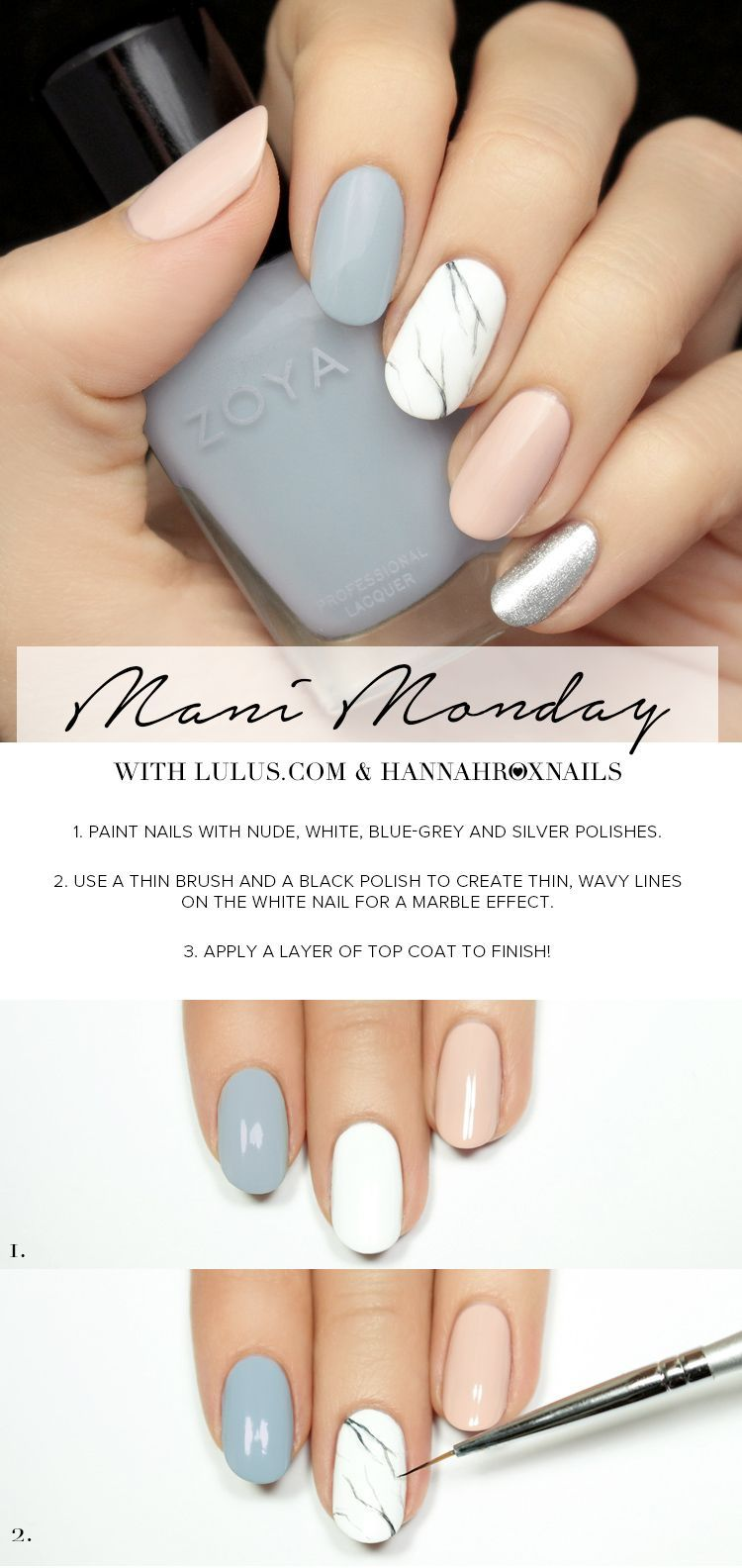 Lulus Com Fashion Blog Marmor Nagel Tutorial Susse Nagel Manikure Ideen