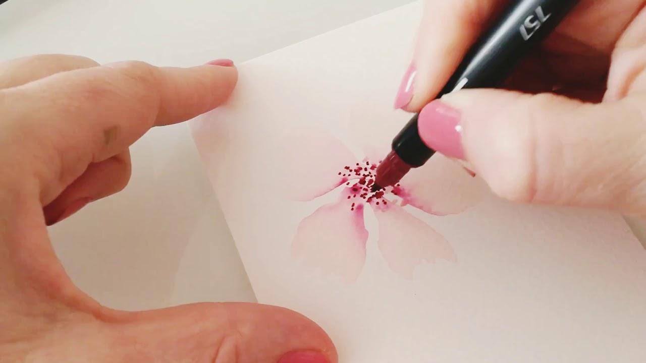 Jak Na Akvarelove Malovane Kvety Adela Youtube
