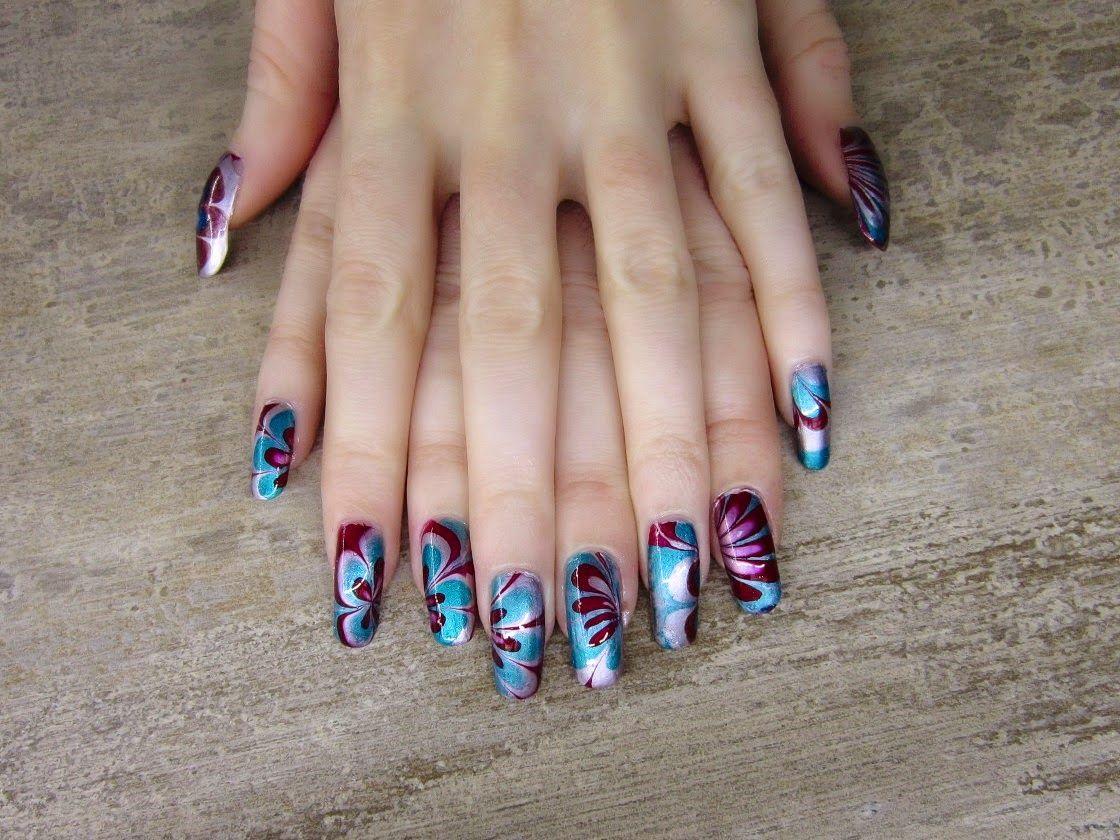 Metalicke Hratky Nail Art Tutorial Nail Art Nehet Nehty