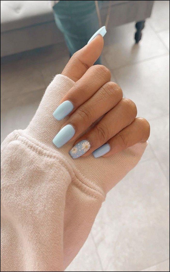 91 Simple Short Acrylic Summer Nails Designs For 2019 Page 13 Myblogika Com Gelove Nehty Design Nehtu Nehty