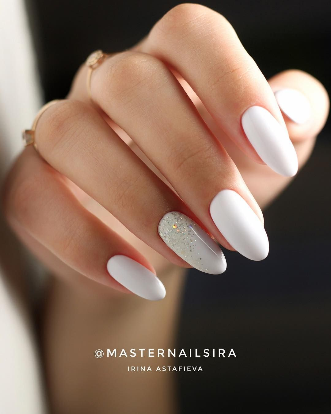 48 Stylish Acrylic White Nail Art Designs And Ideas In 2020 Gelove Nehty Dlouhe Nehty Nehty