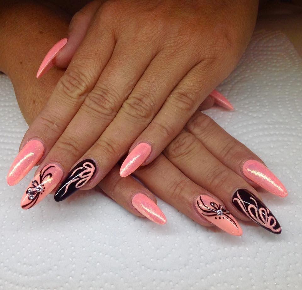 Simple For Long Nails Barevne Nehty Design Nehtu Gelove Nehty