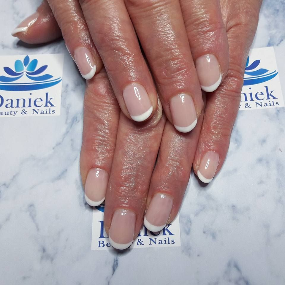 French Manicure Wolken Wit Baby Pink French Pink Schoonheid Nagels French Manicure Gellak Nagels
