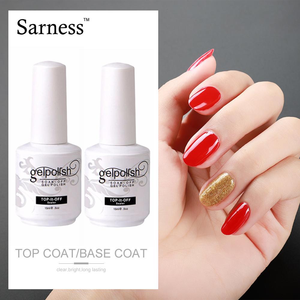Sarness Nails Art Gel Varnish Top Coat Gel Nail Polish Top Base Coat Uv Nail Gel Lak Primer Soak Off Gelpolish Manicure Nail Gel Aliexpress