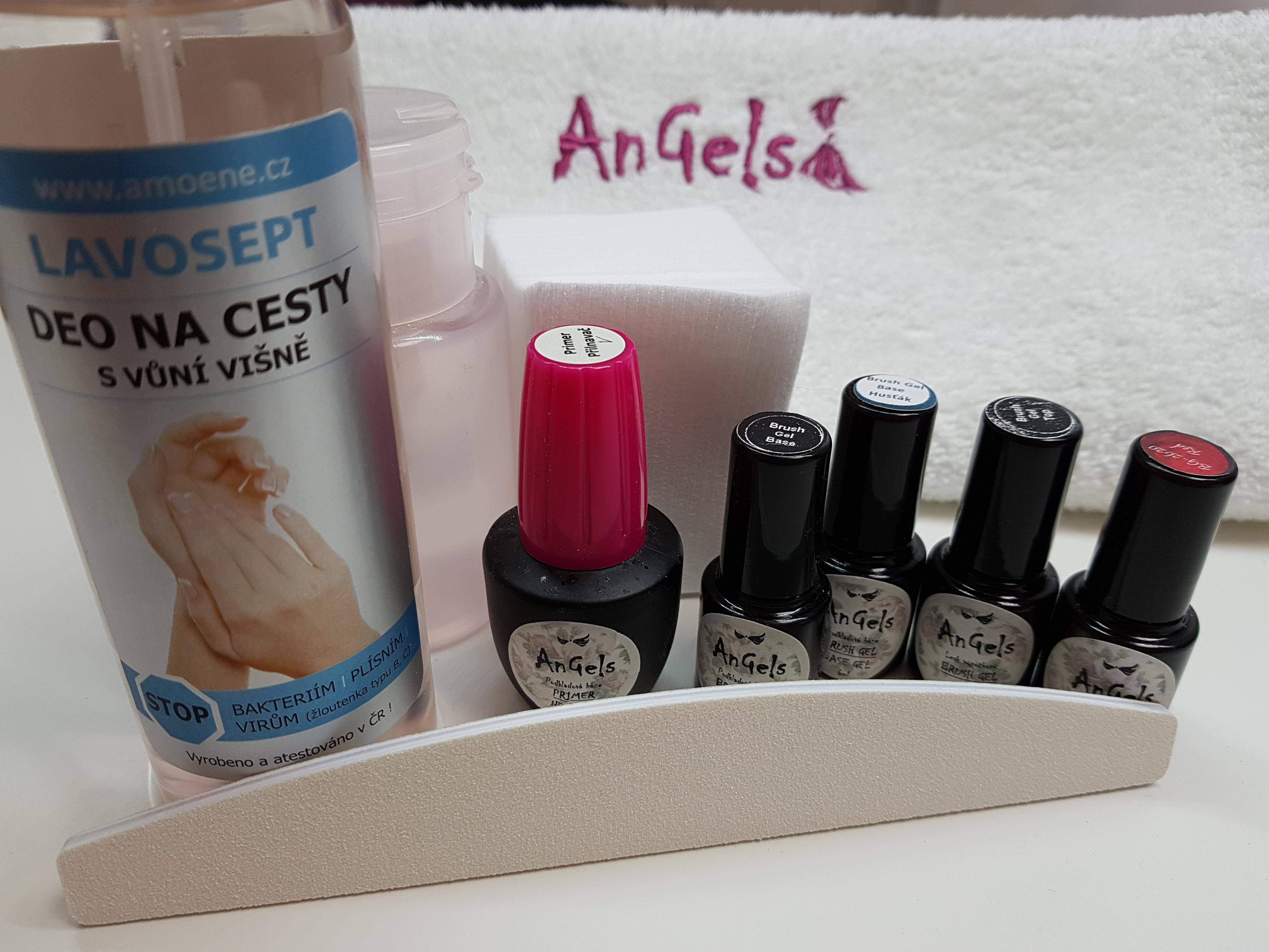 Brush Gel Sada Zpevneni Prirodnich Nehtu Angels Nails