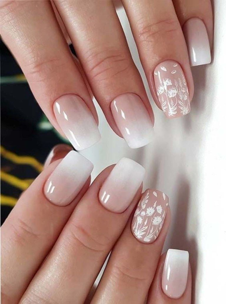 49 Best Ideas About Ombre Nails Art Design Gelove Nehty Design Nehtu Bile Nehty