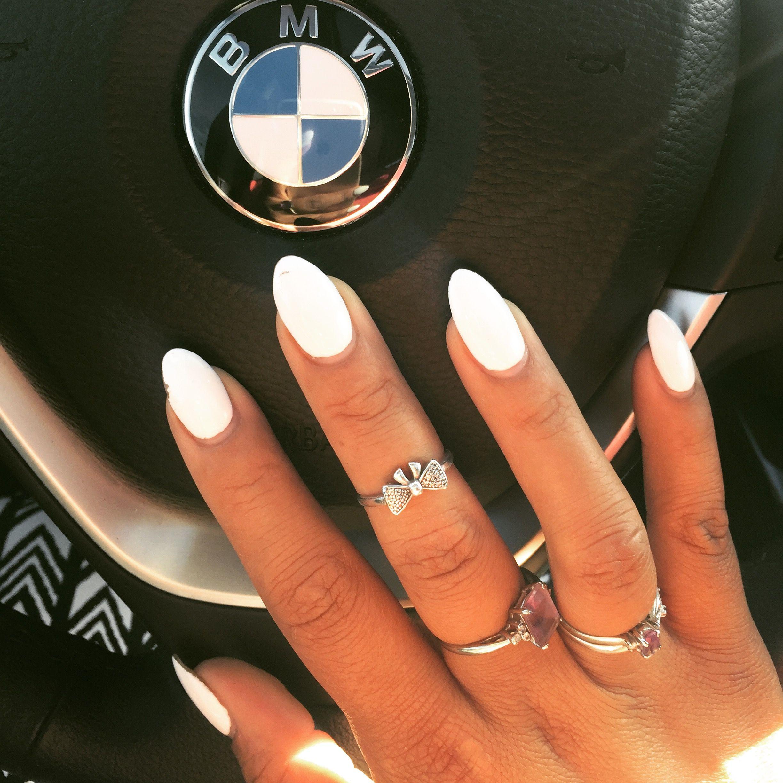 White Polish Summer Nails Almond Shape Bmw Type Laque Gelove Nehty Nehty Krasne Nehty