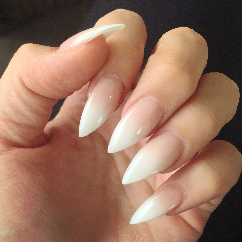 Ombre French Stiletto Nails More Design Nehtu Gelove Nehty Nehty