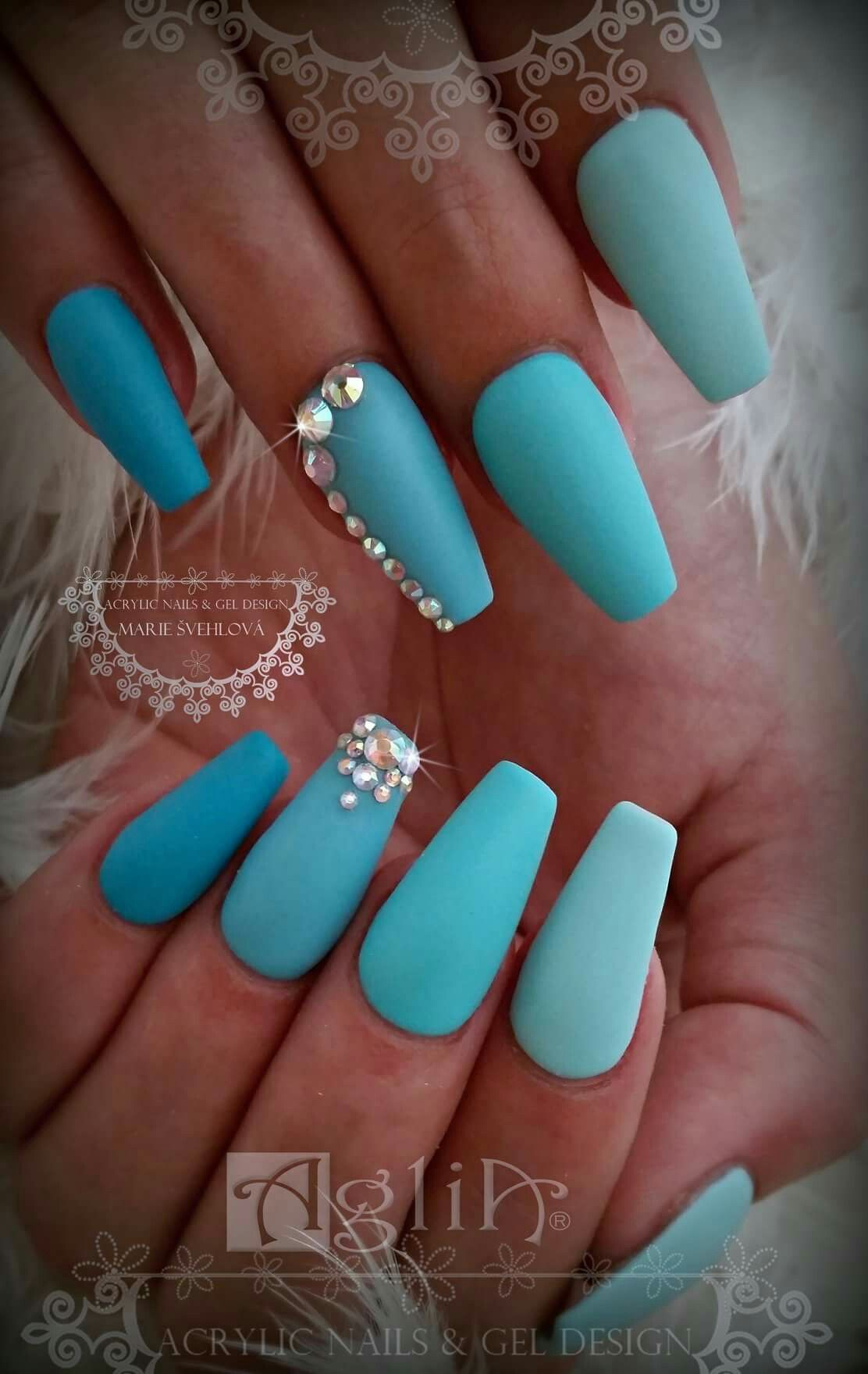 Acrylic Nails Gel Design Matte Nails