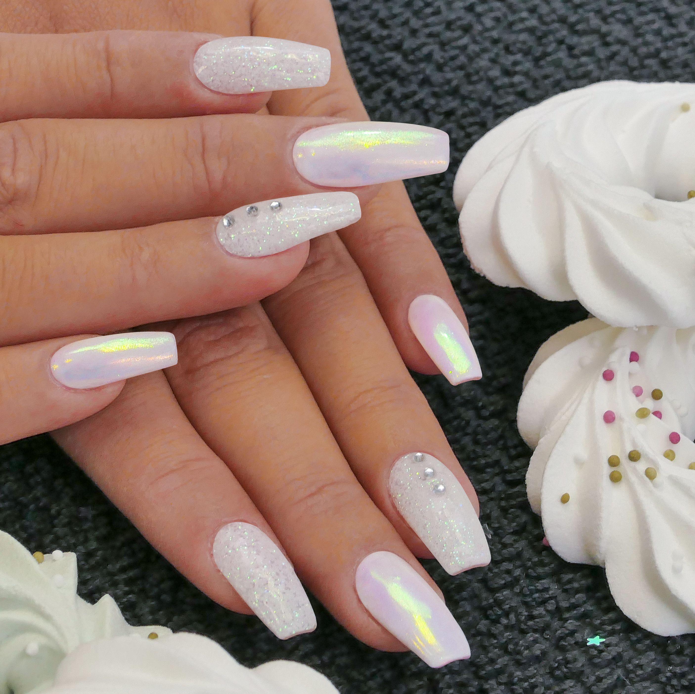 Neonail Lestici Pigment Pearl Effect Naninails Cz Gel Nails Nail Designs Nail Art