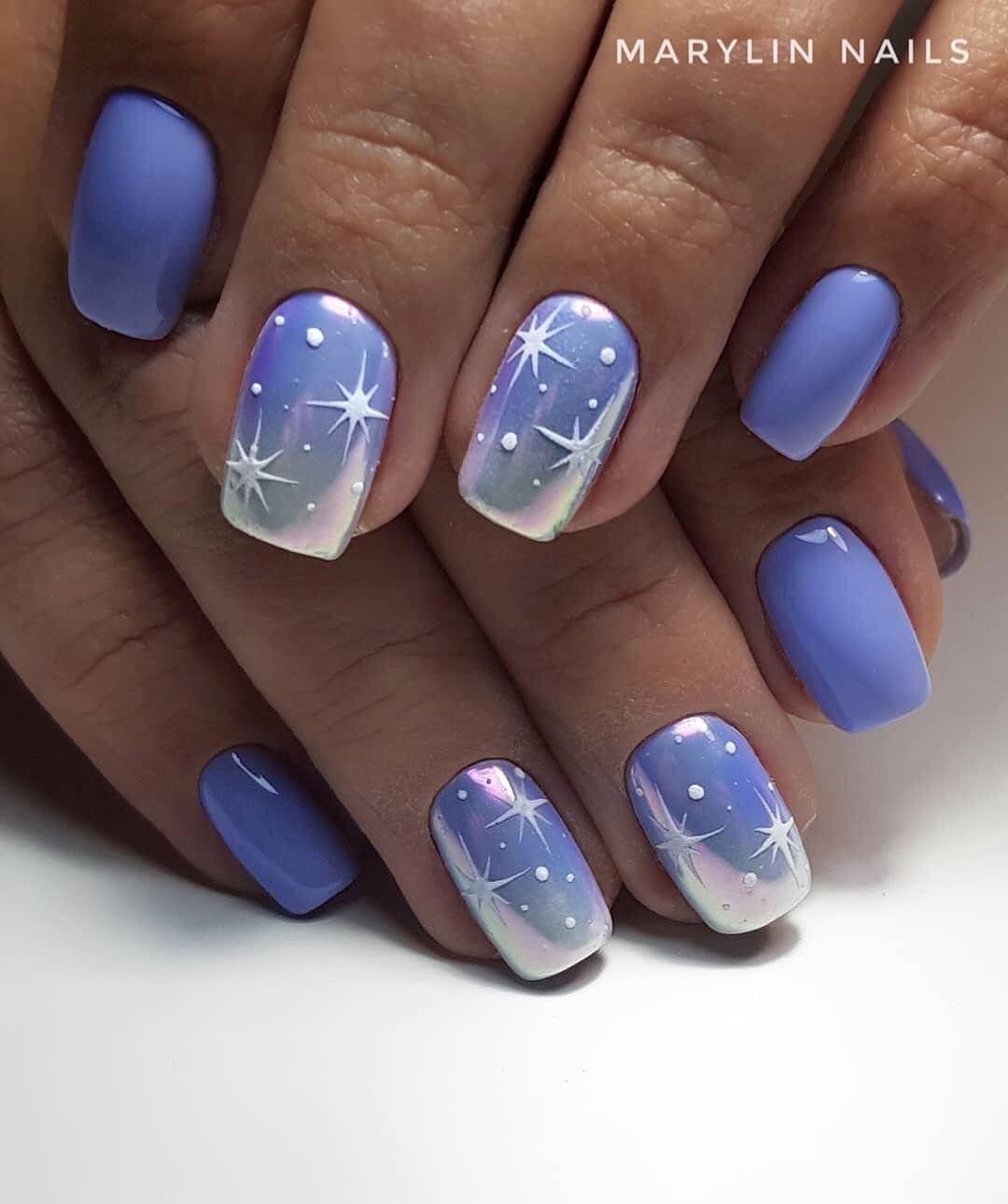Pin By Sarka Novotna On Nehty Modre Nehty Design Nehtu Gelove Nehty