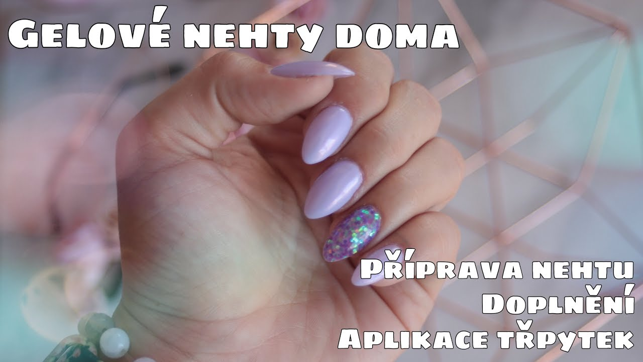 Gelove Nehty Doma Aplikace Trpytek Kate Cosmetics Youtube
