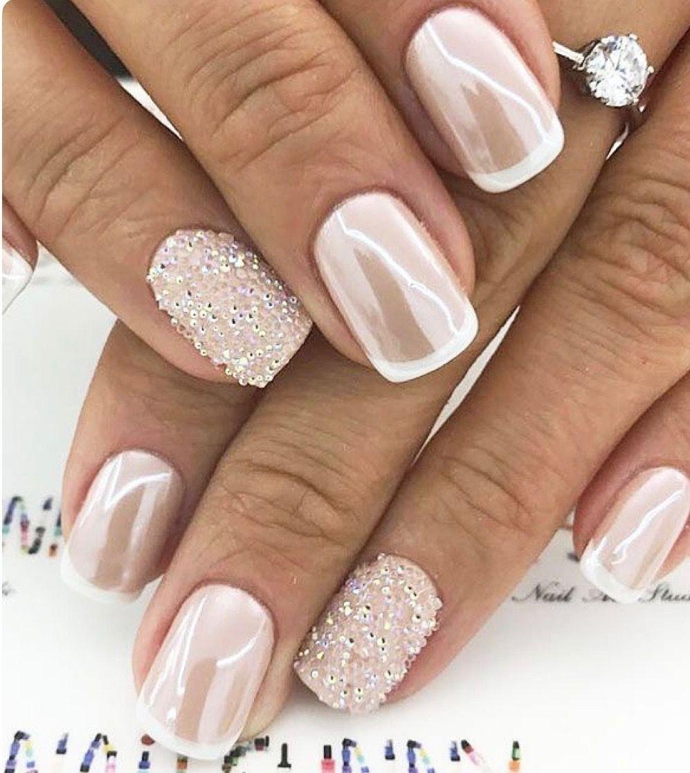 53 Outstanding Bridal Nails Art Designs Ideas 2018 2019 Gelove Nehty Design Nehtu Nehty
