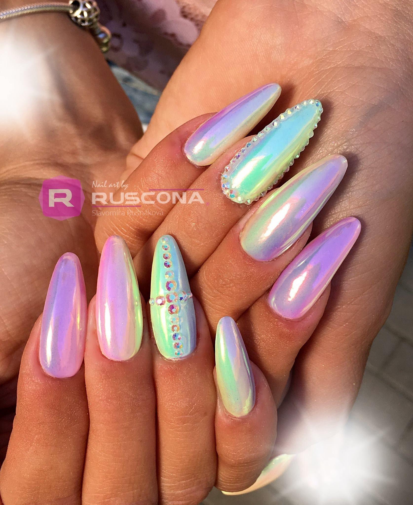 Aurora Nails Gelnails Aurora Auroranails Summernails Ombrenails Rainbownails Longnails Nailart Nailartclub Nailworld Pastelnails Luxurynails Nechty