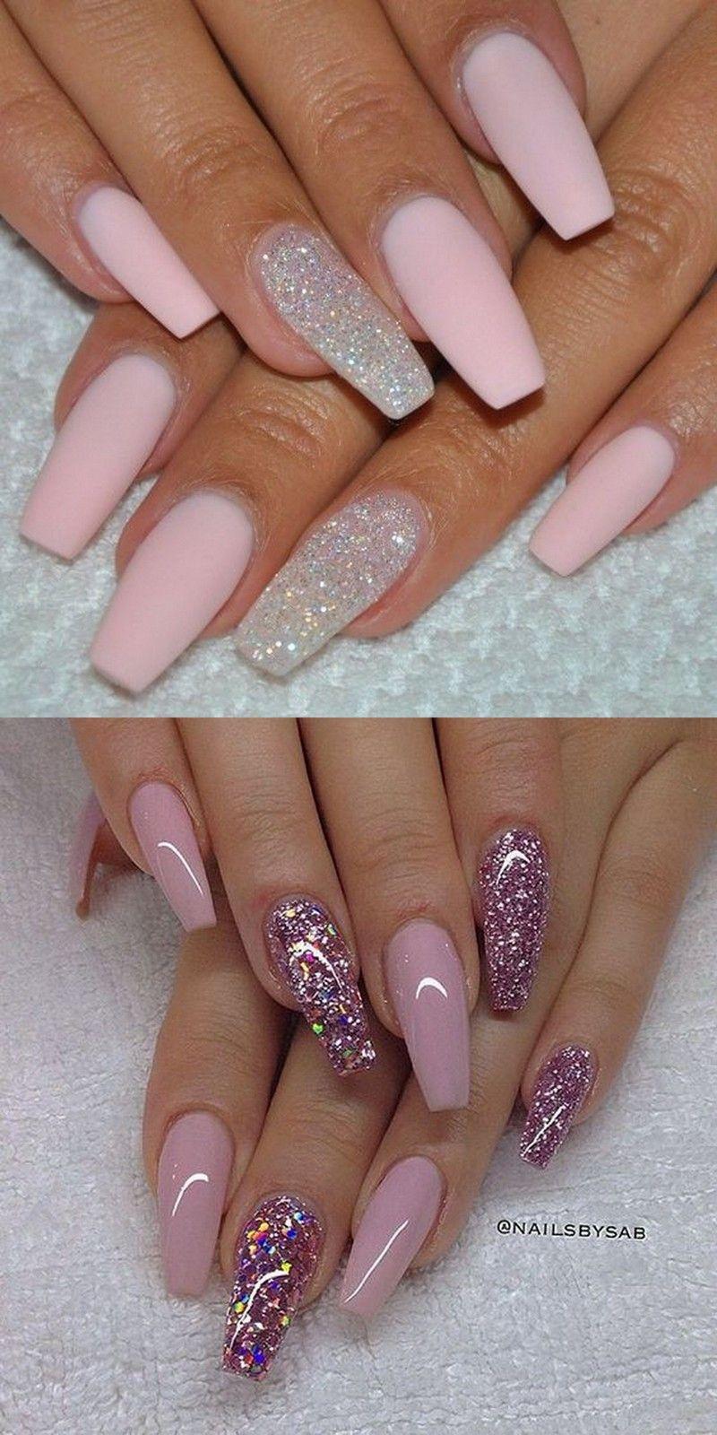 101 Trending Pink Nail Art Polish Color Ideas Dlouhe Nehty Vzory Na Akrylove Nehty Vzory Pro Zdobeni Nehtu