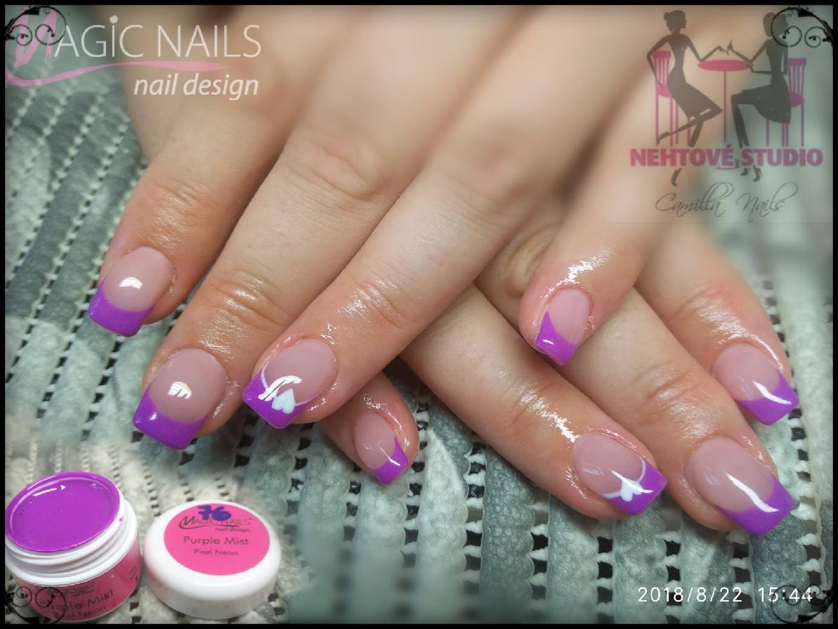 Uv Gely Neon Pixel Purple Mist Magic Nails Gelove Nehty
