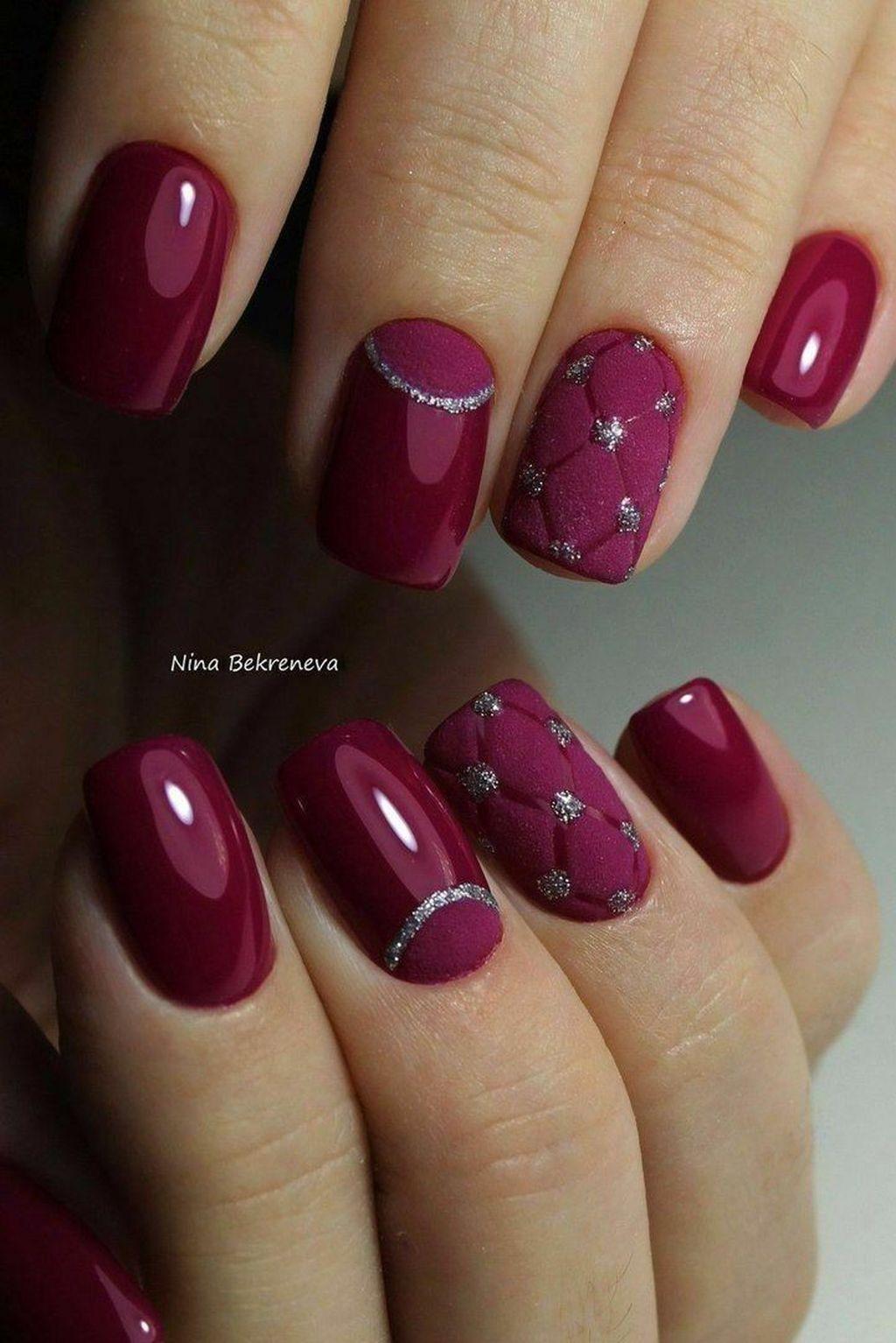45 Charming Winter Nail Design And Color Ideas Jednoduche Nehty Barva Nehtu Nehet