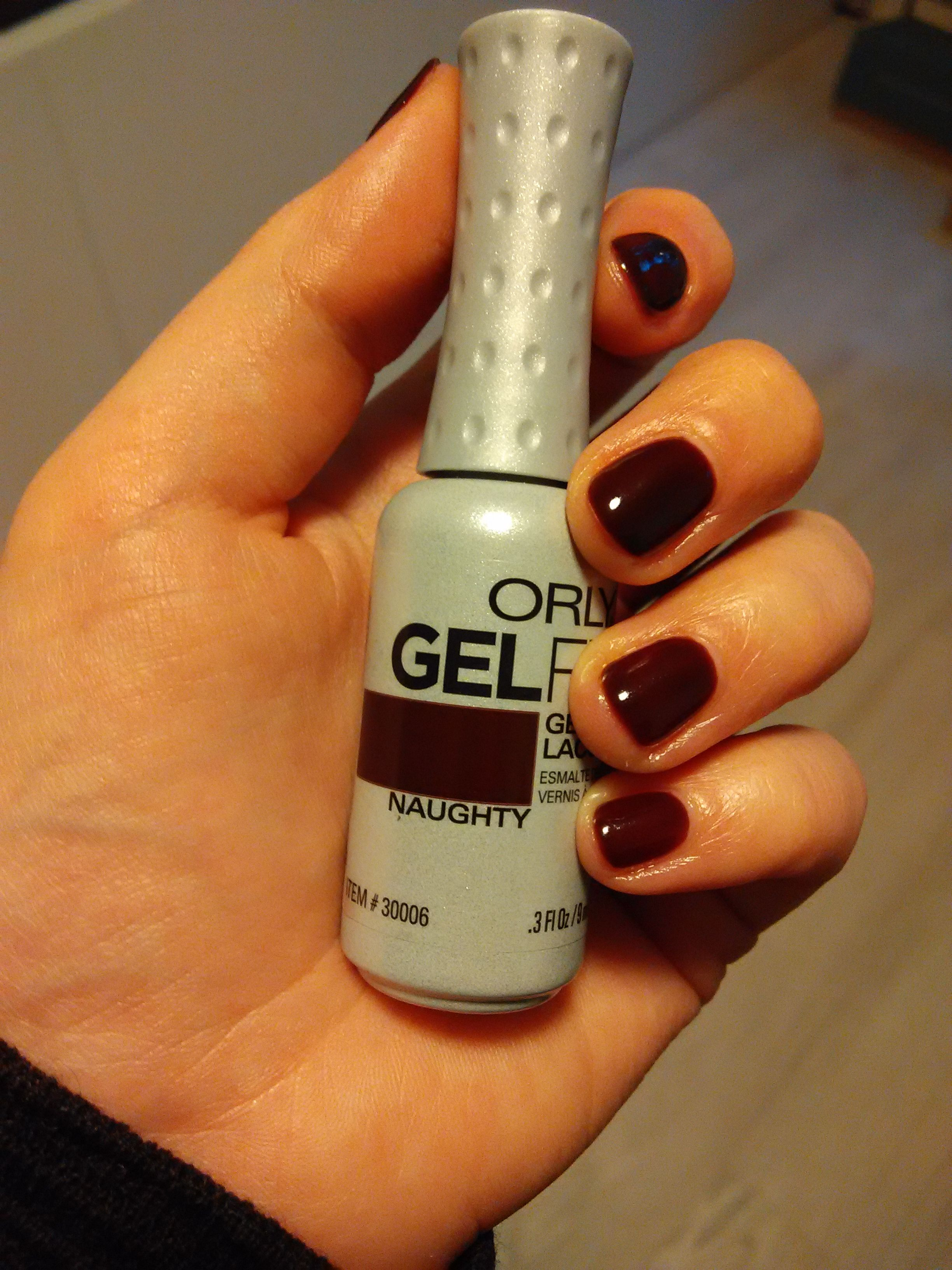Orly Gelfx Naughty Two Layers Of The Color