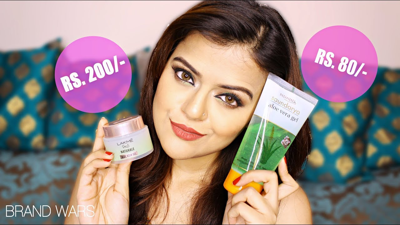 Lakme 9 To 5 Naturale Aloe Aqua Gel Vs Patanjali Aloe Vera Gel Which One Is Better For Skin Care Youtube