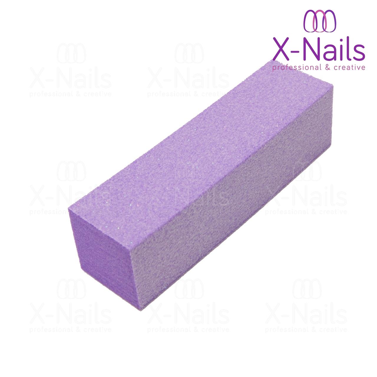 Brusny Blok Na Nehty 100 100 Lestici Blok Na Nehty Fialovy X Nails