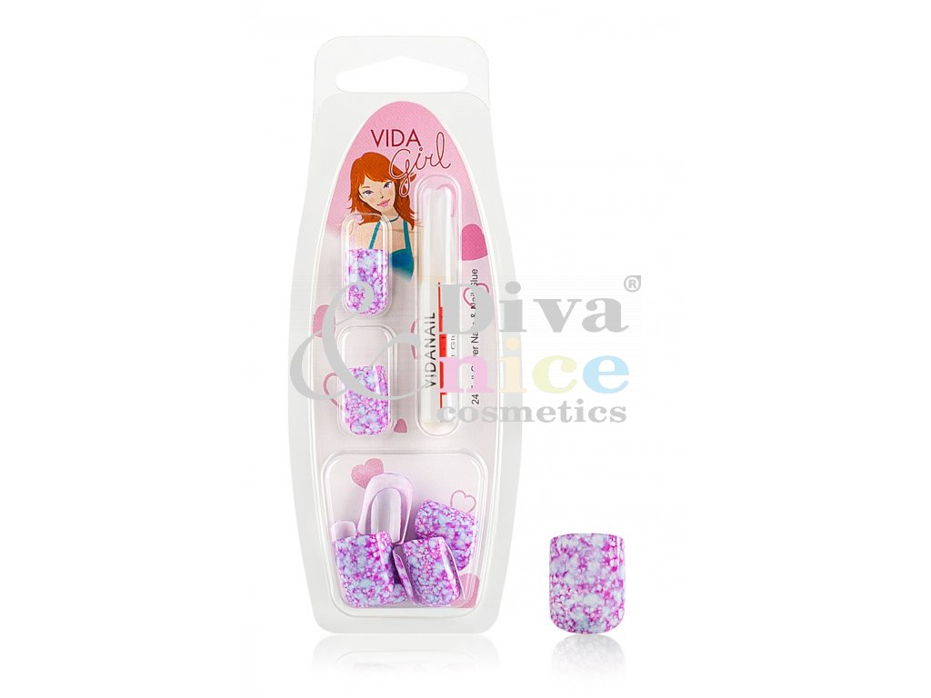 Nalepovaci Nehty Girls Mramorove Gg Lepidlo C 1 Diva Nice Cosmetics