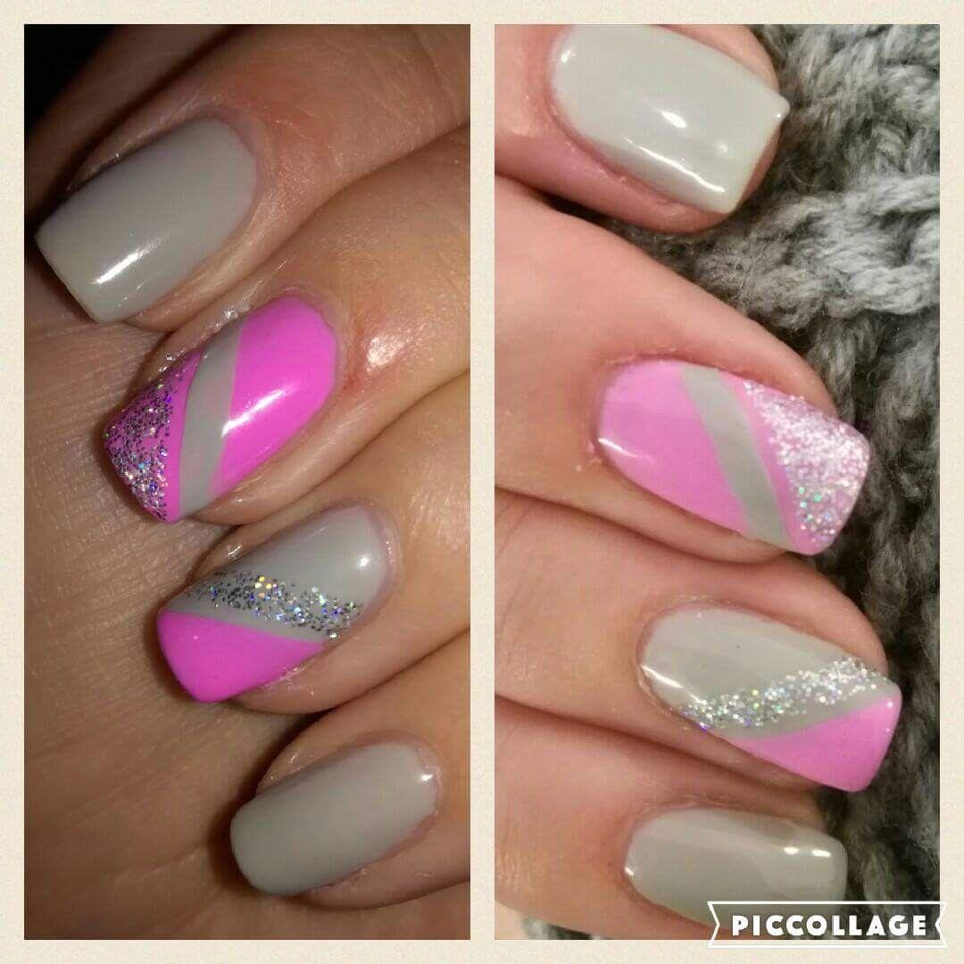 Sedoruzove Nehty Grey Pink Nails Pink Nails Nails Pink