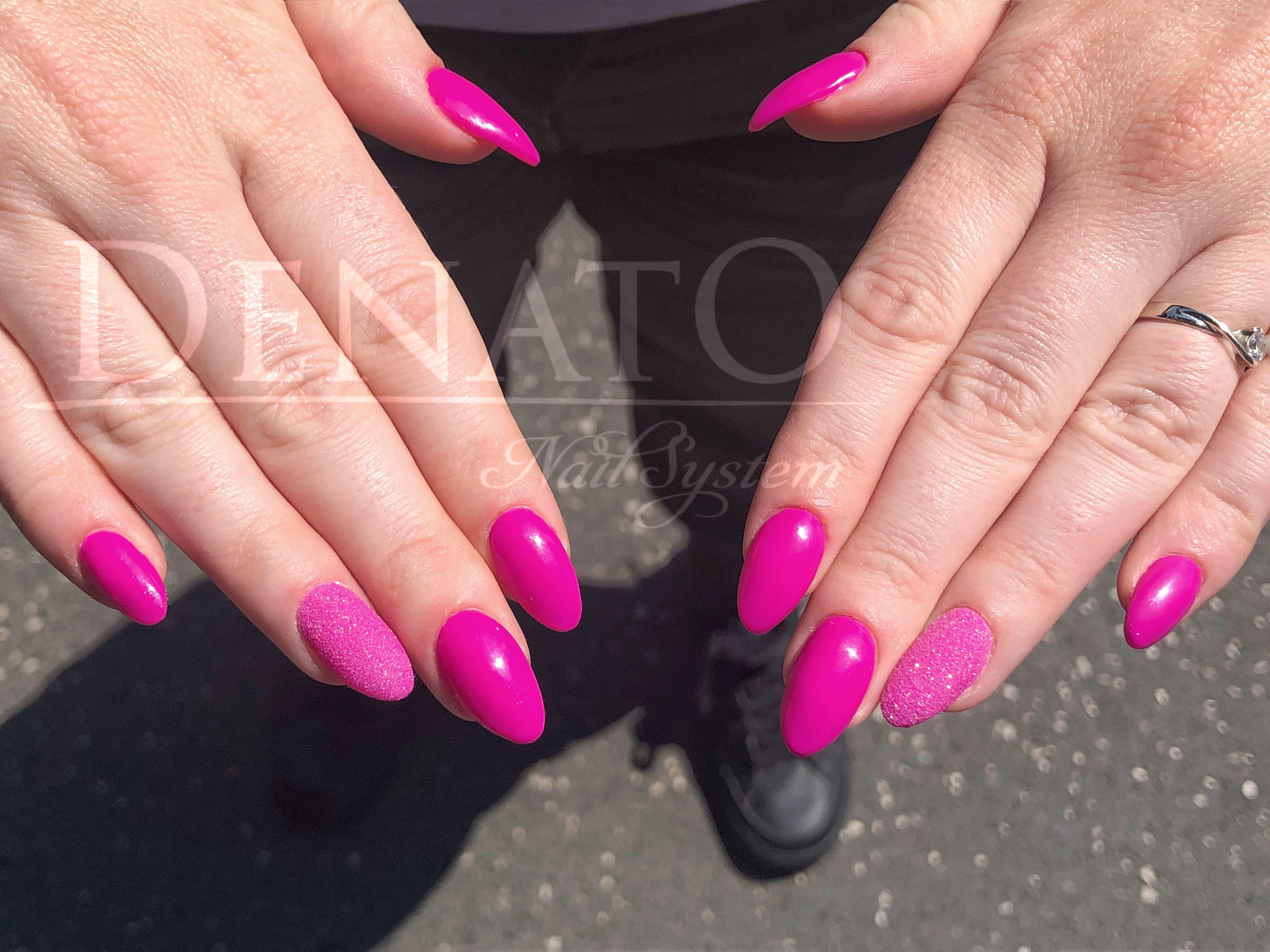 Neon Magenta Pink Nails