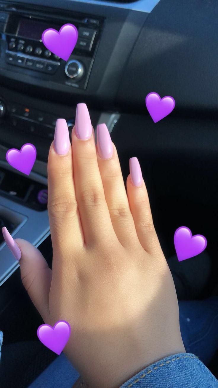 Lavender Coffin Nails Pastelove Nehty Gelove Nehty Umele Nehty