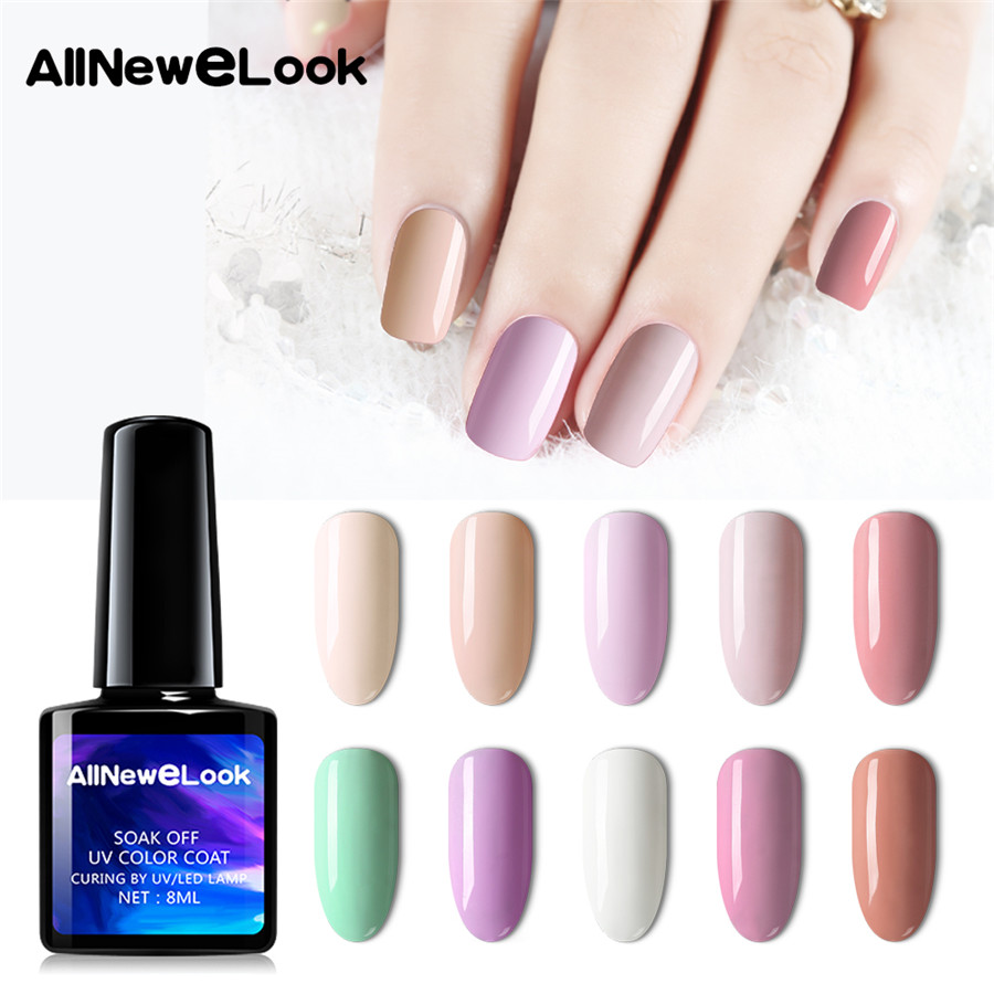 Allnewelook Gel Polish Nude Set Uv Vernis Semi Permanent Primer 8ml Poly Gel Varnish Nail Art Manicure Gel Lak Nail Gelishpolish Nail Gel Aliexpress