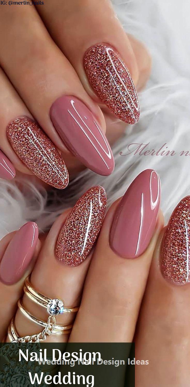 35 Simple Ideas For Wedding Nails Design 1 Ombre Nehty Silvestrovske Nehty Barevne Nehty