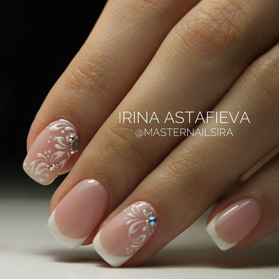 Pin By Veronika Sucha On Svadba Bridal Nails Designs Bride Nails Elegant Nails