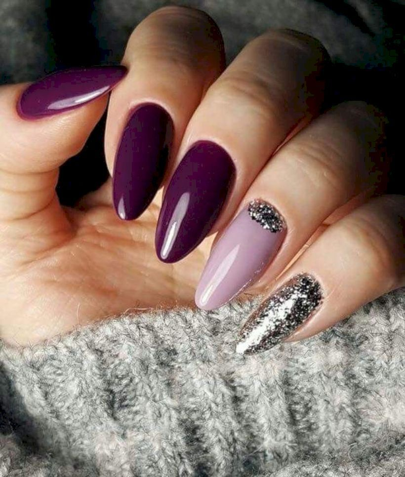 40 Nail Colors Art Ideas Winter 2018 2019 Gelove Nehty Design Nehtu Akrylove Nehty