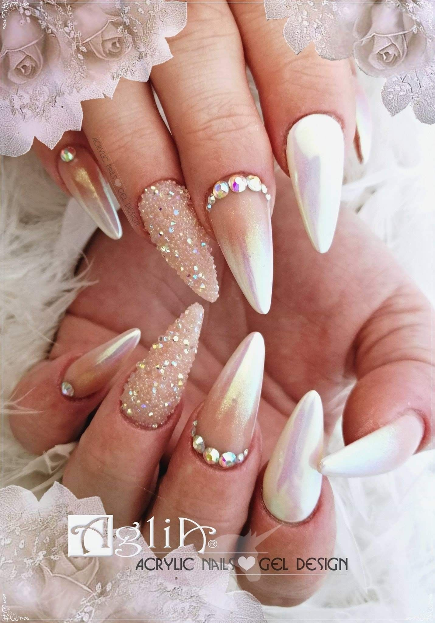 Acrylic Nails Gel Design Unicorn Ombre Work Nails Gel Nails Nails
