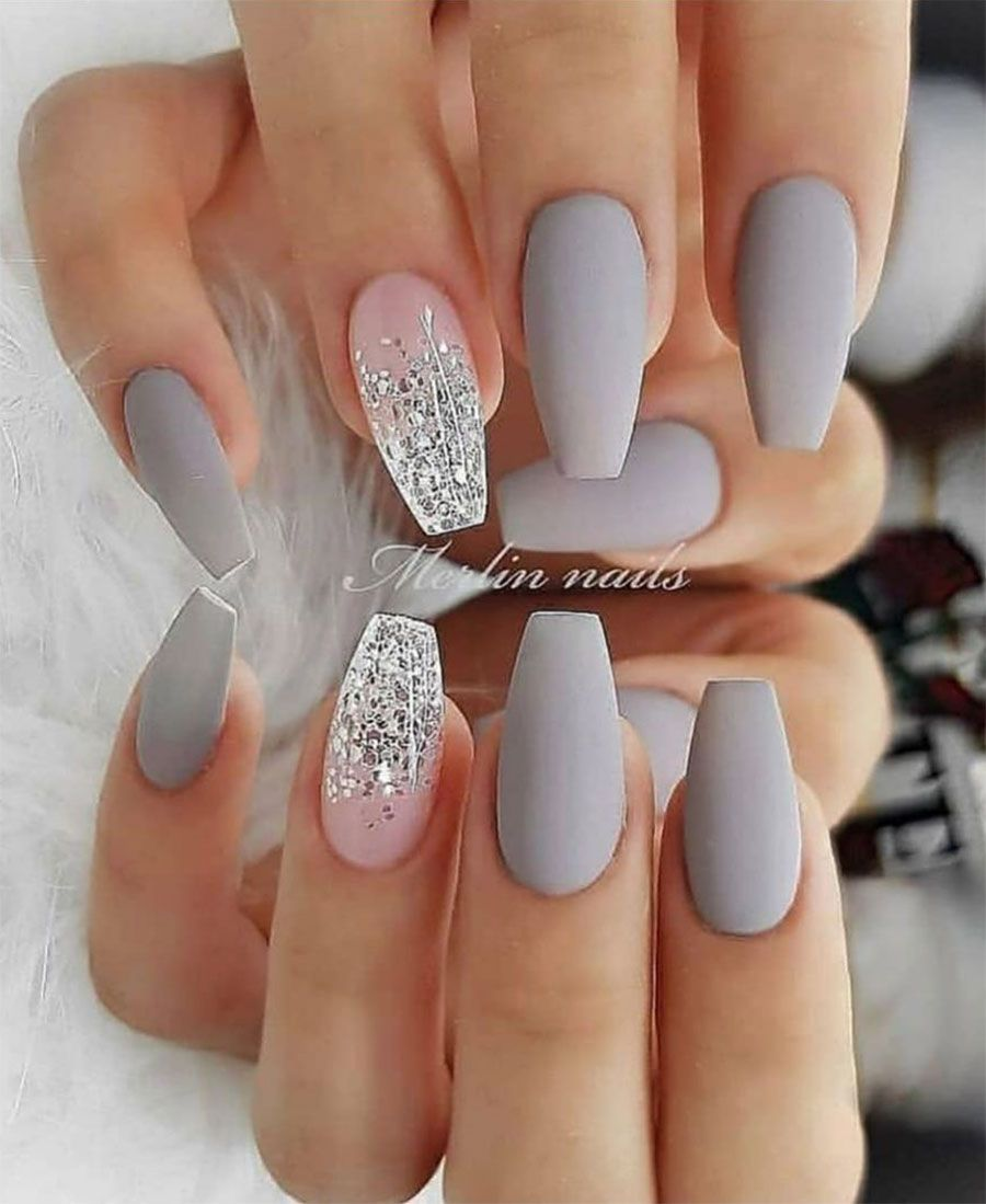 The Best Gray Nail Art Design Ideas Design Nehtu Gelove Nehty Disney Nehty