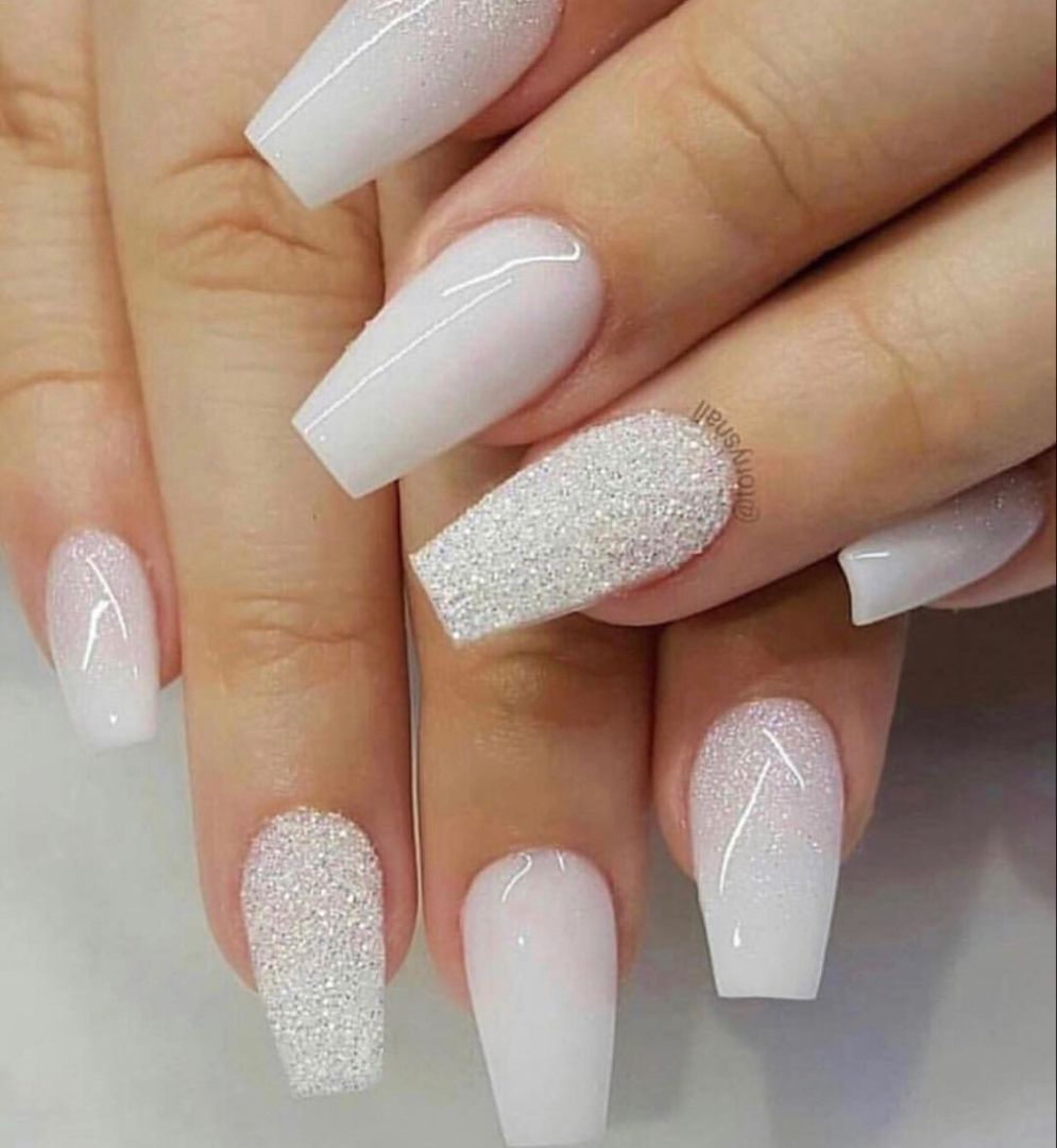 Beautiful Nail Designs To Inspire You In 2020 White Acrylic Nails Coffin Nails Designs Prom Nails