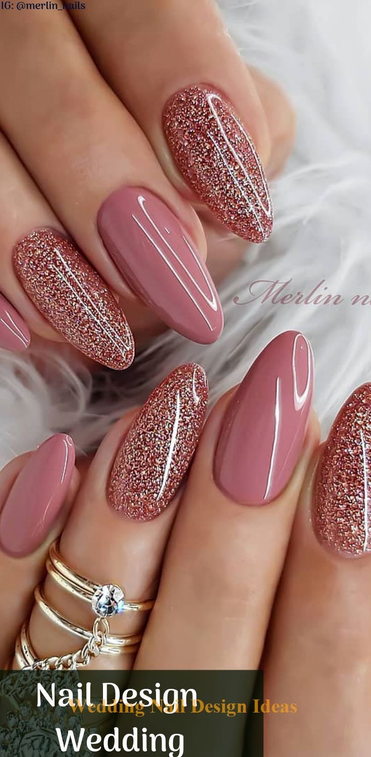 35 Simple Ideas For Wedding Nails Design 1 Ombre Nehty