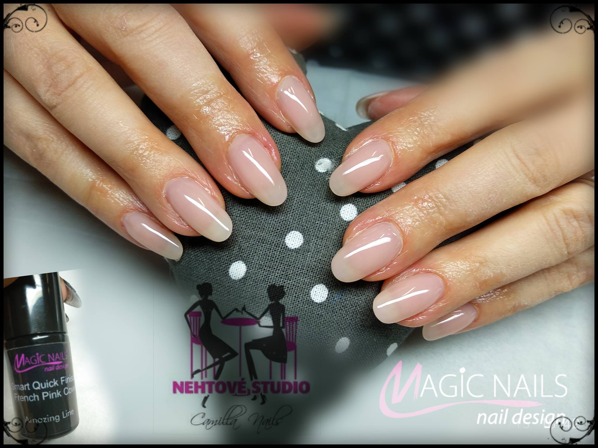 Magic Nails Gel Lak Amazing Line Smart Qf French Pink Cover 5 Ml Magic Nails Gelove Nehty