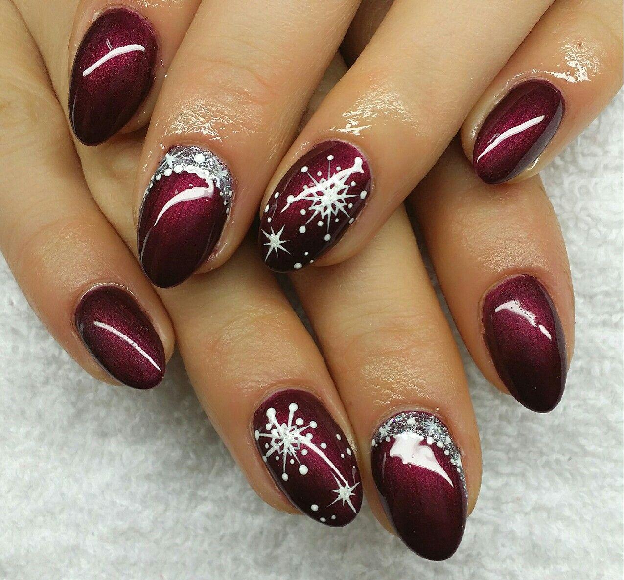 Nail Design Fullcover Winter Christmas Umele Nehty Barevne Nehty Gelove Nehty